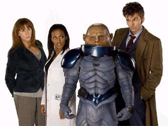 The Doctor, Donna and Martha meet the Sontarans