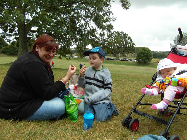 [A family picnic at Bodium Castle]