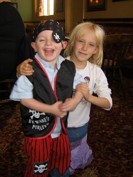[Pirate Tom and his friend Abigail]