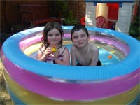 Tom and Emma's paddling pool